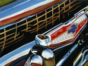 Chevrolet Car Art Print|Chevy Grille