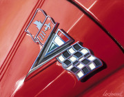 Chevrolet Car Art Print|Corvette Logo