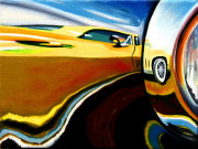 Chevrolet Car Art Print|Stingray Headlight