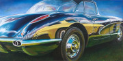 Corvette Car Art Print|Dream Cruisin'