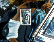 Rolls-Royce Car Art Print|Rolls Logo