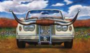 Rolls-Royce Car Art Print| Texas Long Horn