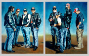 Motorcycle Art Print|Biker Dudes
