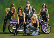 Motorcycle Art Print|Self Portrait with Babes