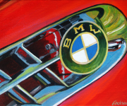 BMW Car Art Print|BMW 507 Roadster