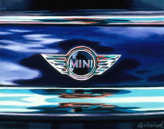 Mini Car Art Print|Mini Cooper Logo