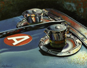 Bugatti Car Art Print|Bugatti Twin Gas Caps