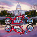 Motorcycle Art Print|Capitol Chopper