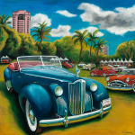 Packard Car Art Priint|1940 Darrin Packard