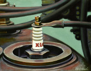 Car Art Print|Vintage Spark Plug