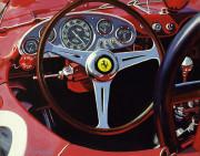 Ferrari Car Art Print|Ferrari  Cockpit