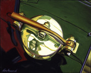 Vintage Car Art Print|Vintage Gas Cap #2