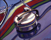 Vintage Car Art Print|Vintage Gas Cap #1
