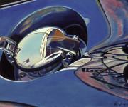 Vintage Car Art Print|Vintage Gas Cap #5