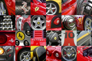 Ferrari Car Art Print|Ferrari Wheels-Logos