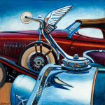 Isotta Fraschini Car Art Print|Isotta Fraschini Hood Ornament