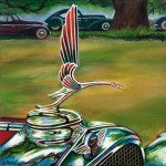 Cadillac Car Art Print|Cadillac V16 Hood Ornament