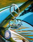 Mercedes-Benz Car Art Print|Mercedes Hood Ornament|Amelia Concours