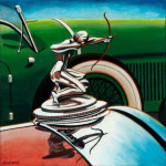 Pierce-Arrow Car Art Print|Pierce Arrow Hood Ornament|Pebble Beach Concours