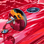 MG Car Art Print|MGA Wing Mirror