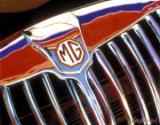 MG Car Art Print|MG  Grille
