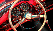 Mercedes Benz Car Art Print|Mercedes 190SL Roadster Dash