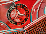 Mercedes Car Art Print|Mercedes Emblem