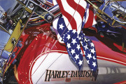 Harley Davidson Motorcycle Art Print|American Dream