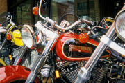 Harley Davidso Motorcycle Art Print|City Bikes