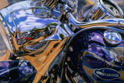 Harley Davidson Motorcycle Art Print|Partly Cloudy in Daytona