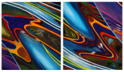 Abstract Car Art Print|Double Vision
