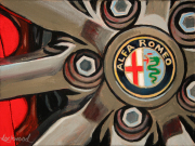Alfa Romeo Car Art Print|Alfa Wheel