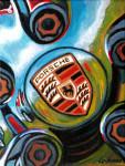 Porsche Car Art Print|Porsche Emblem