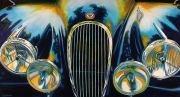 Jaguar Car Art Print|XK120 at Cobble Beach