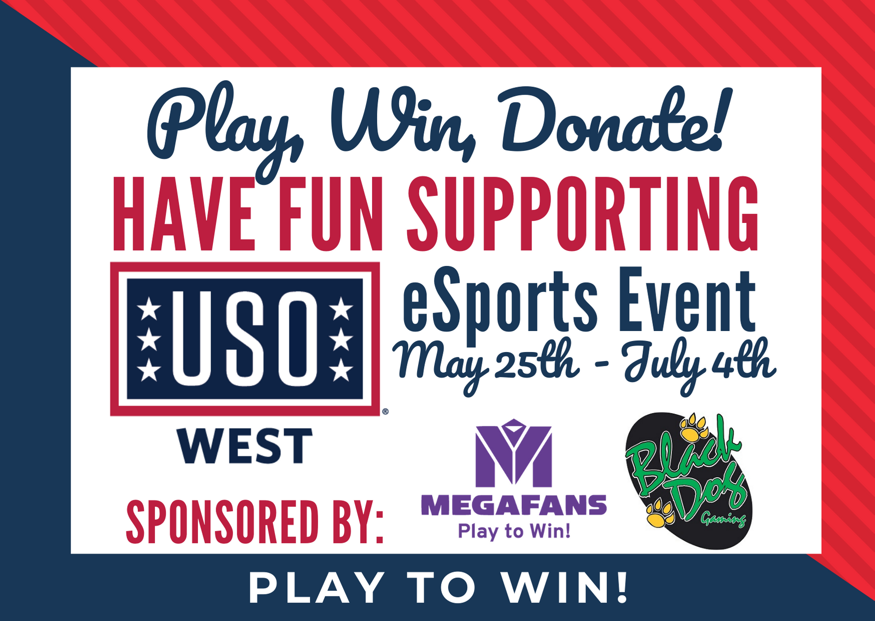 MegaFans and Black Dog Gaming Launch Charity eSports Tournament for USO West