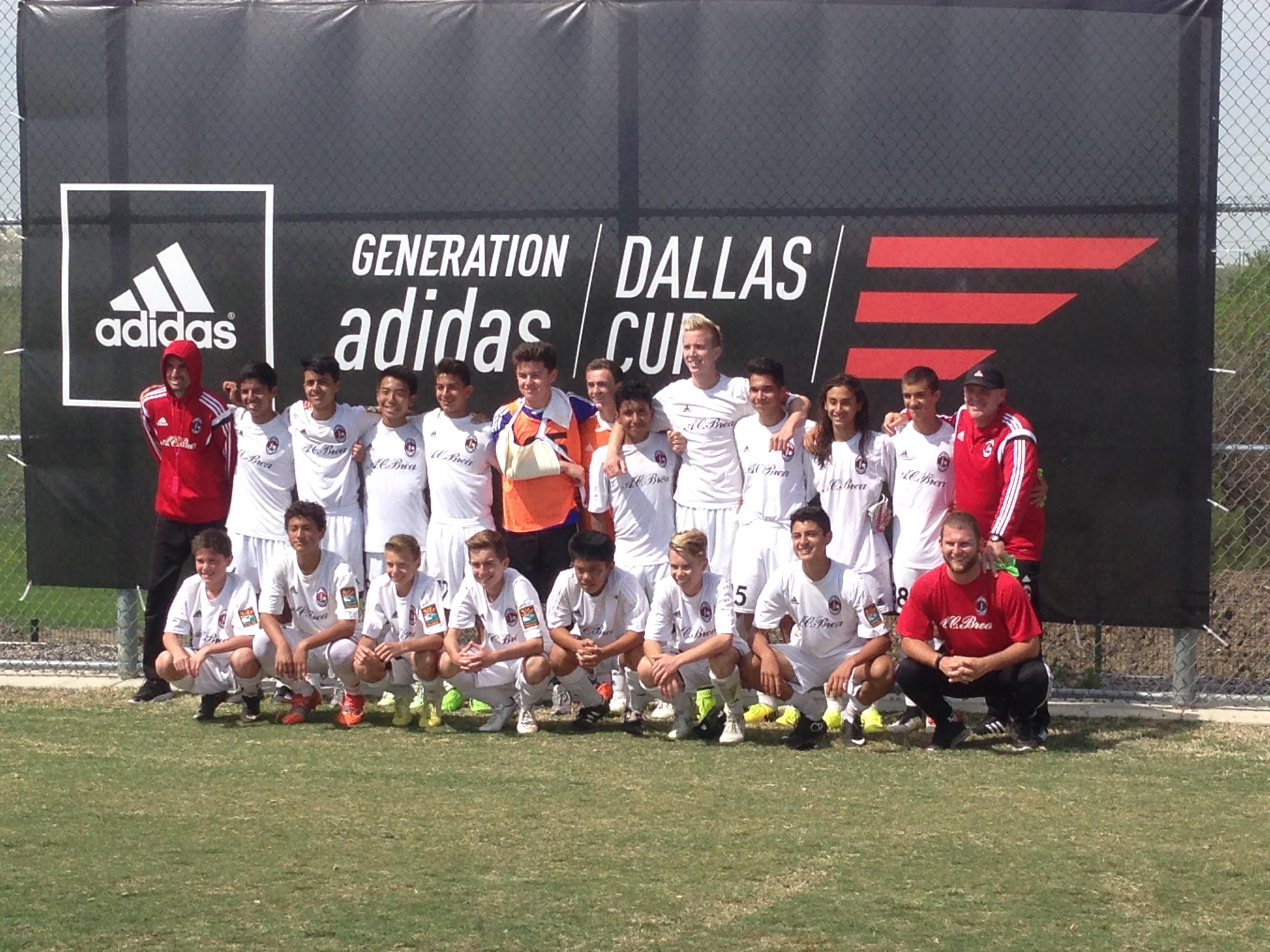 AC Brea U-14 wins Dallas Cup