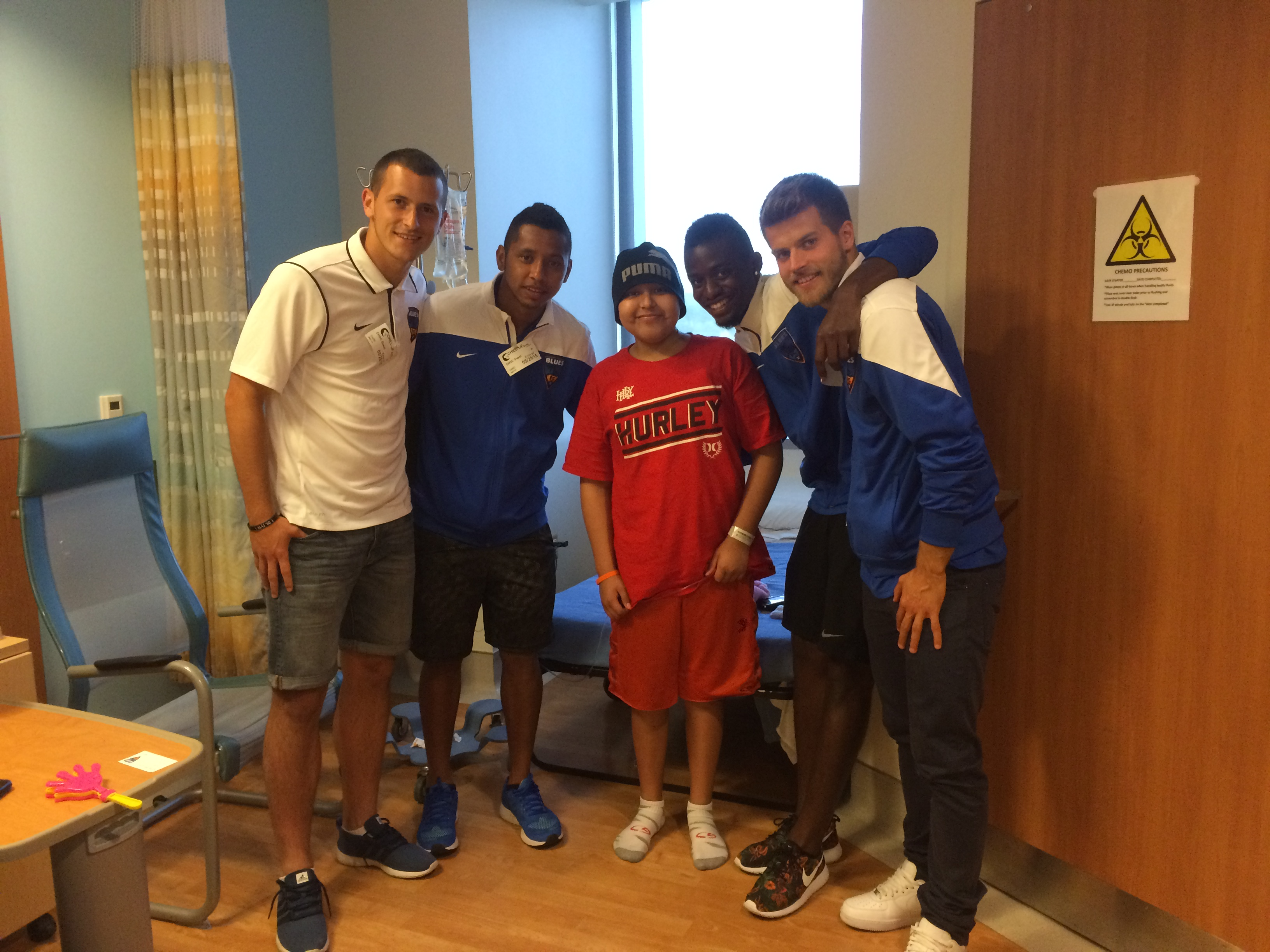 Orange County Blues Visit Children's Hospital