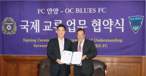 OC Blues FC Forges Partnership with Korean Side FC Anyang