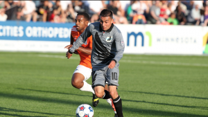 Ibarra playing for Minnesota United