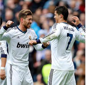 Sergio Ramos and Cristiano Ronaldo