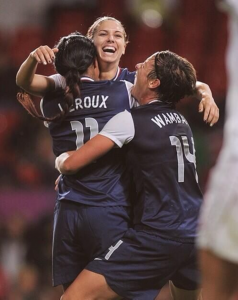 The trio: Morgan, Wambach and Leroux