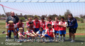Albion OC White B03 2015 Spartans Cup Champions!