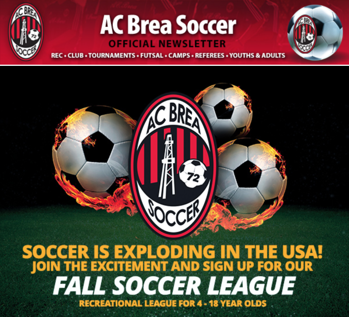 Brea Sports Park  CITY RECREATIONAL & INTERCITY REC LEAGUES