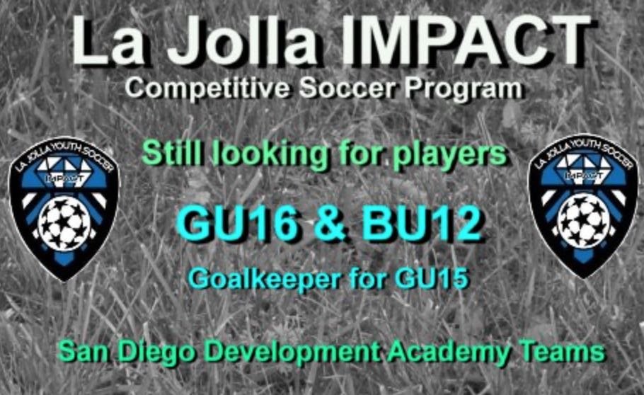 La Jolla Impact Looking for players
