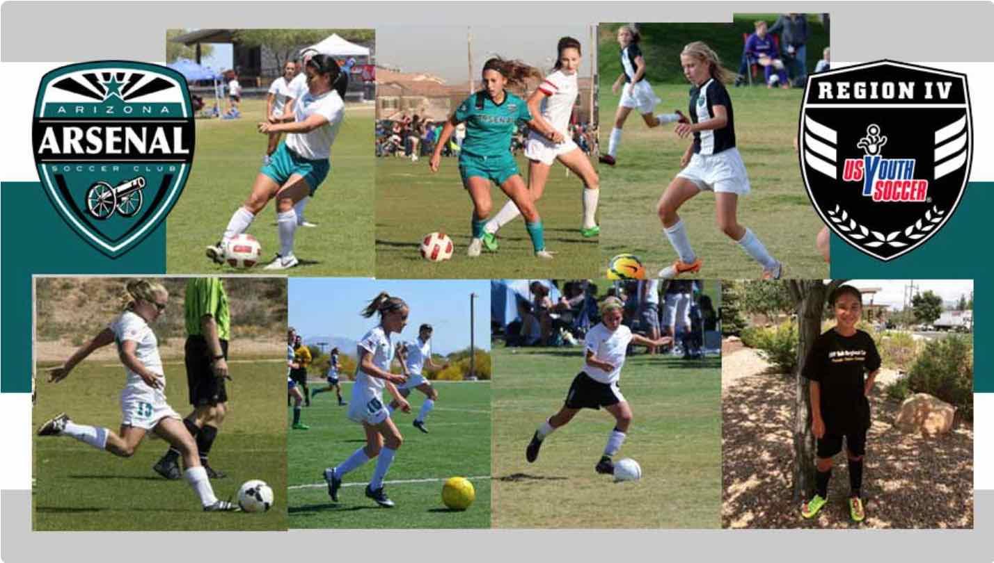 Arizona Arsenal Girls Invited to ODP Region IV Camp