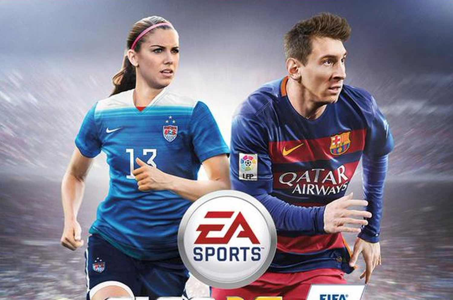 California Homegrown Alex Morgan on the cover of FIFA 16