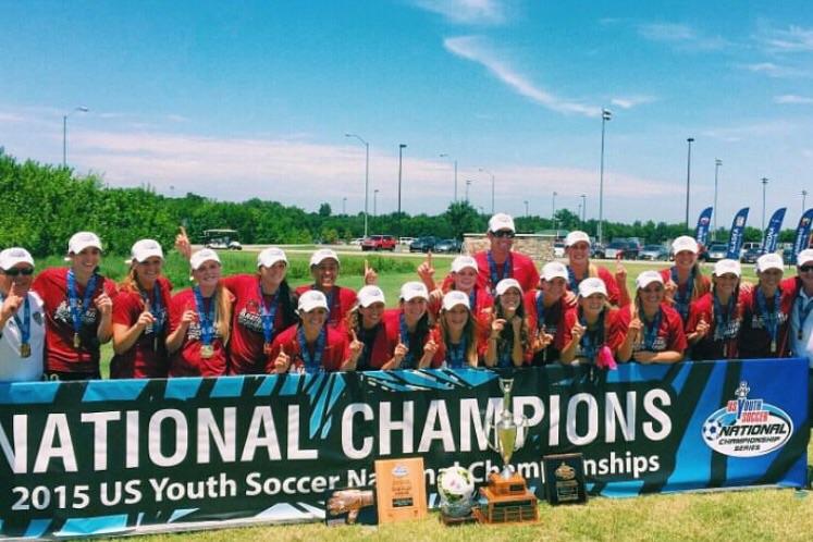 Women's u18's very own Carlsbad Elite crowned national champions