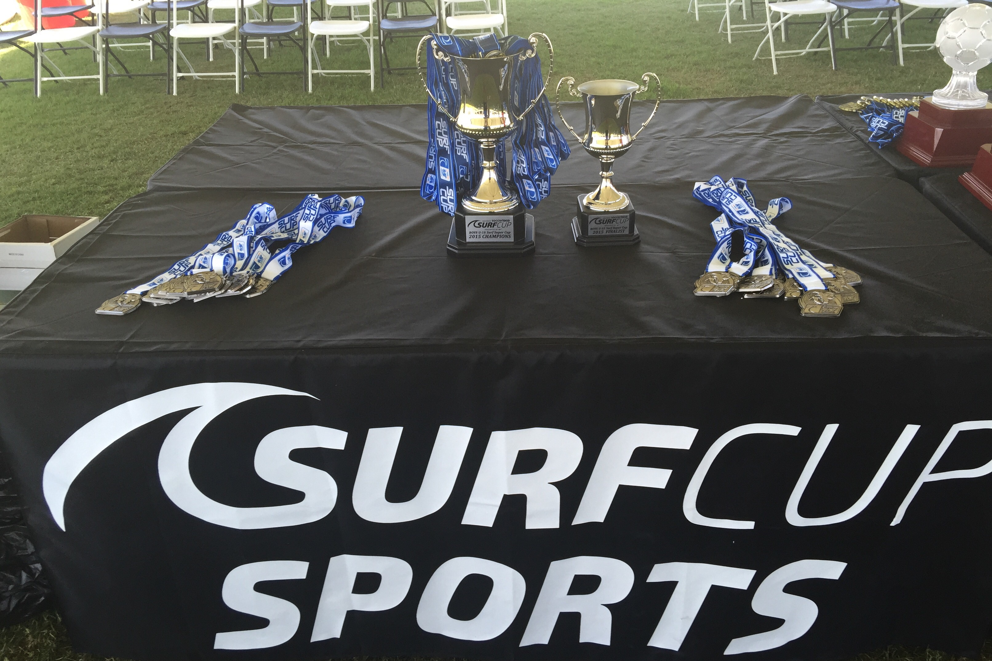 The highest level of soccer played at the men's u18 soccerloco Surf Cup