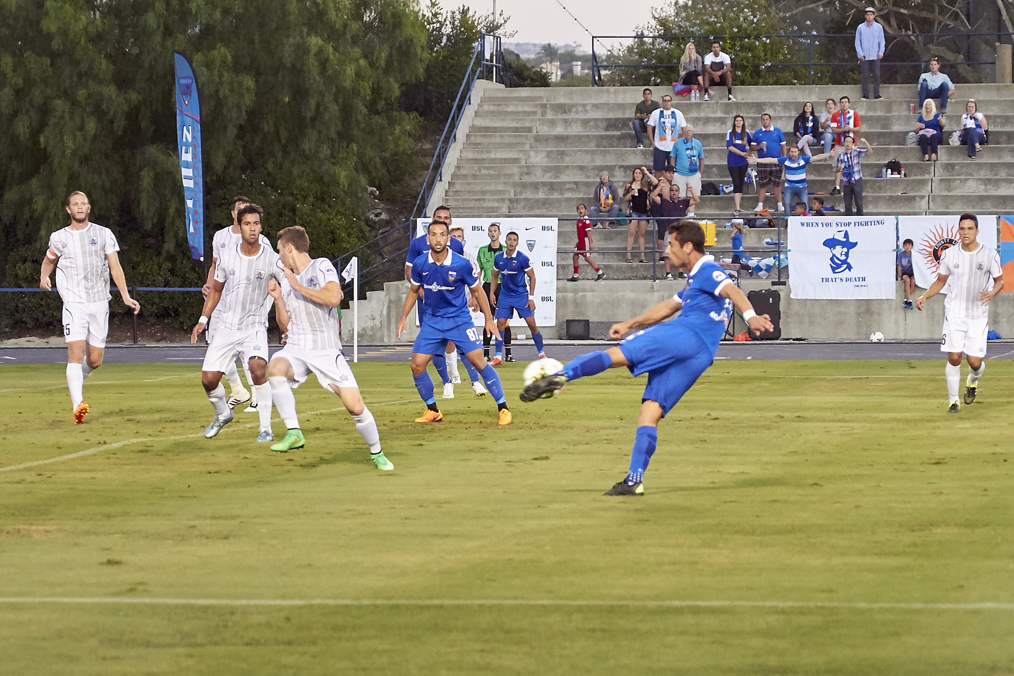 Ilich and Thompson Lead OC Blues FC to 1-0 Victory