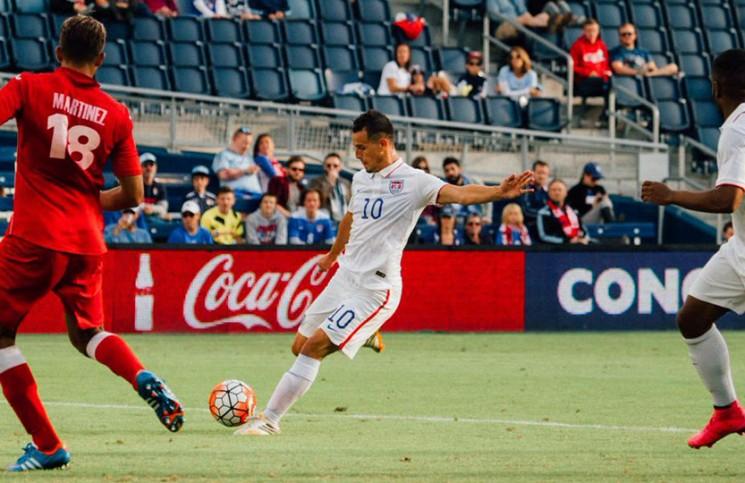 Garden Grove's Luis Gil scores in U-23 MNT's 4-0 win over Panama